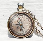Vintage Compass pendant, Antique Compass, Antique Nautical compass, compass pendant, compass necklace, NOT REAL COMPASS