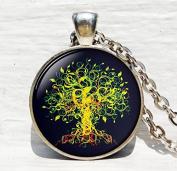 Tree of life pendant , Gold Tree Pendant ,Woodland jewellery ,Tree of life jewellery nature pendant
