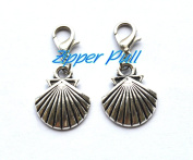 Shell Zipper Pull, Perfect for Necklaces, Bracelets , keychain and earrings Charm planner charm Shell handmade Jewellery