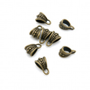 Price per 30 Pieces Jewellery Making Supply Charms Findings Filigrees M3CH2M Bail Connector Cord Ends Antique Bronze Findings Beading Craft Supplies Bulk Lots