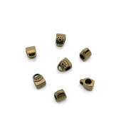 Price per 5 Pieces Jewellery Making Supply Charms Findings Filigrees K7KU8V Handbag Beads Bails Cord Ends Antique Bronze Findings Beading Craft Supplies Bulk Lots