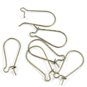 20 Pieces Breloques DIY Collier Jewellery Making Supply Charms Findings Bronze Tone X8DD0 Ear Hooks
