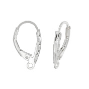 1 Pair Sterling Silver Laser Cut French Hook Leverback Ear Wire Earring Connector