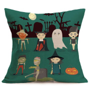Hirolan Happy Halloween pillow case cushions cover for halloween props