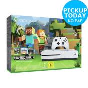 Microsoft Xbox One S 500gb White Console Minecraft Favourites Bundle -from Argos
