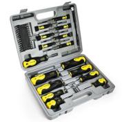 42pc Screwdriver Bit Set In Case Tool Kit Torx Phillips Precision Slotted Garage
