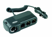 Ring Rms4 Car Four 12v Sockets Adaptor For Dash Cams, Sat Navs And More