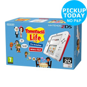Nintendo 2ds White/red And Tomodachi Life Game -from The Argos Shop On