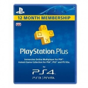 Playstation Plus Card Psn Uk 1 Year (365 Days) Subscription Card Ps3 & Ps Vit...