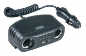 Ring Rms7 Car Adaptor Two 12v Sockets With Usb And Battery Indicator