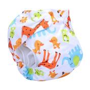 Naovio Baby Girl Boy Breathable Reusable Nappy Cover Snap, 2.7-15kg
