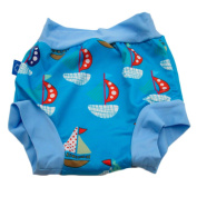 Baby Swim Cloth Nappies High Waist Waterproof Reusable Leakproof Ligt Blue M L XL
