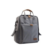 Homespon Baby Nappy Bag Multi Functional Waterproof Travel Backpack Baby Nappy Bags,grey