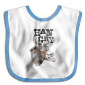 Unisex Baby Hangry Donkey With White Teeth Funny Donkey Soft And Comfortable Cute Bibs