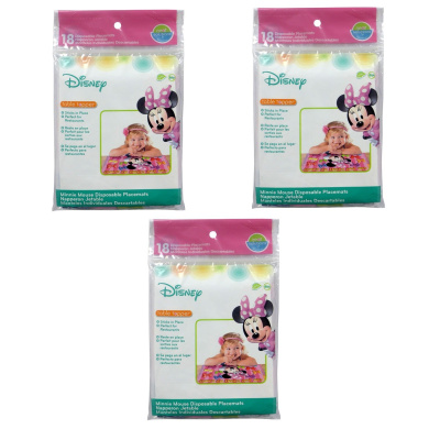 Disney Neat Solutions Table Topper, Minnie Mouse, 54 Count
