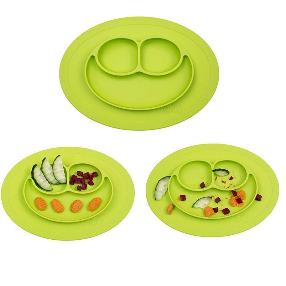 Plate Ezpz Mini Mat One Piece Silicone Placemat Plate Lime