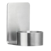 Beslagsboden Pillar Candle Holder Self-Adhesive of Brushed Stainless Steel, Silver