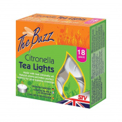 The Buzz Citronella Tea Lights (Suitable for Outdoor, Garden Use) - Pack of 18