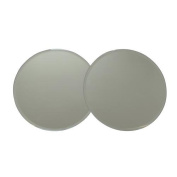 Set of 2 Mirror Deco 20cm Candle Plate Bevelled Edge Contemporary Style