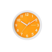 Decowall DSH-S22OR Silent Quite Non Ticking Modern Wall Clock for Living Room Bedrooms Office Kitchens
