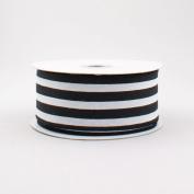Vertical Stripe Wired Edge Ribbon (3.8cm , Black White) - 10 Yards : RX9135X6