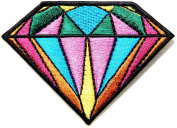 Diamond Sapphire Jewellery Logo Kid Baby Jacket T-shirt Patch Sew Iron on Embroidered Sign Badge Costume Clothing BY PANICHA