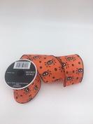 Celebrate IT- Fall & Halloween Ribbon -Spiders in orange - 6.4cm x 3.7m