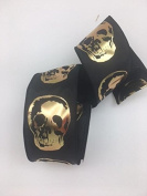 Celebrate IT- Fall & Halloween Ribbon -Black Skull - 6.4cm x 3.7m