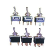 10a Toggle Switch Dpdt Mom 6.35mm Spade Connexions New