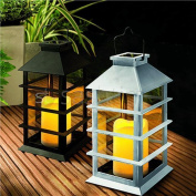 Cole Bright Solar Led Flickering Hanging Coach Candle Lantern Lamp Garden Light