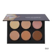 Creazy 6 Colour Concealer Primer Beauty Contour Face Cream Makeup Concealer Palette