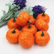 Halloween Mini Pumpkin, Misaky Artificial Simulation Lifelike Props Pumpkin Garden Home Decor