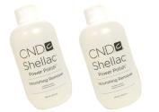 2 X Shellac Power Polish Nourishing NAIL UV-GEL Remover Liquid Leaves nails smooth, shiny and healthy : Net wt 8 fl oz / 236 ml
