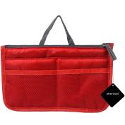 Makeup Organiser Bag, xhorizon TM SR Travel Compartment Handbag with 13 Inserts Holder, Travel Insert Organiser Compartment Bag Handbag Purse Large Liner Tidy Bag