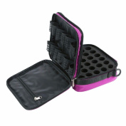 BestFire 42-Bottle Essential Oils Carrying Case Shockproof Essential Oils Display Organiser Travel Bag with Foam Insert, Shoulder Strap Sturdy Double Zipper - Holds 5ml, 10ml, 15ml Bottles