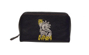 Coach Leather Cosmetic Case Keith Haring, Statue of Liberty, Black