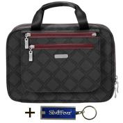 Baggalini Deluxe Travel Cosmetic Hanging Organiser Bag Bundle Key Chain Purse Light-