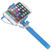 New Kitvision Portable Extendable Lightweight Pocket Wired Selfie Stick - Blue