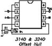 Ca3140ez Op-amp Mosfet Input Bipolar Output Single Or Dual Supply Rails