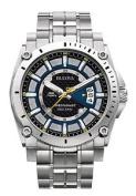 Bulova Men's Quartz Watch Analogue Display And Stainless Steel Strap 96b131