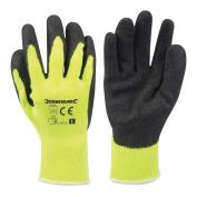 Large Hi-vis Builders Gloves Yellow 907757