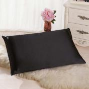 DDLBiz Fashion Solid Colour Rectangle Cushion Cover Silk Throw Pillow Case Pillowcase