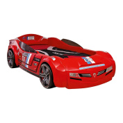 Cilek Kids Room Champion Racer Collection, BiTurbo Car Bed with Mattress, Red
