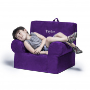 Jaxx Julep Personalised Kids Chair - With Custom Embroidery, Grape