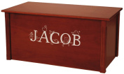Wood Toy Box, Large Cherry Toy Chest, Personalised Thematic Font, Custom Options