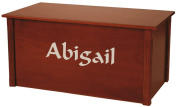 Wood Toy Box, Large Cherry Toy Chest, Personalised Calligraphy Font, Custom Options