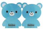 Cartoon Cute Lovely Bear Pattern Nonskid Heavy Metal Office Desk Bookends for kids children