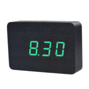 DEESEE(TM) Temperature Display Sounds Control Electronic LED Alarm Clock Cuboid