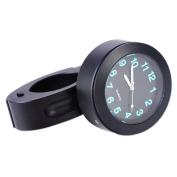 2.2cm 2.5cm Handlebar Bar Mount Clock Luminous Waterproof Black