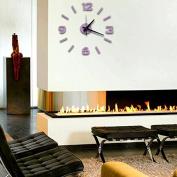 Super silent large decorative wall clocks home decor diy clocks living room mural wall sticker